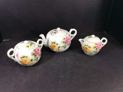 Beautiful Antique Nippon Hand Painted Tea Set