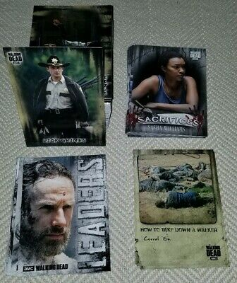 Topps 2019 The Walking Dead Hunters & Hunted Complete Base Set + 3 Insert Sets