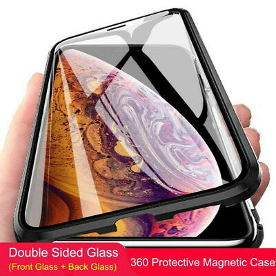 For iPhone XS MAX XR 7/8 Plus Magnetic 360 Full Protection Silicone Case Cover