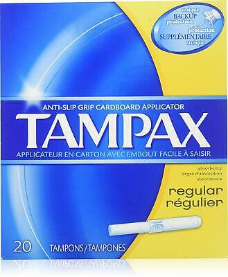 Tampax Tampons with Biodegradable Applicator, Regular Absorbancy - 20 each