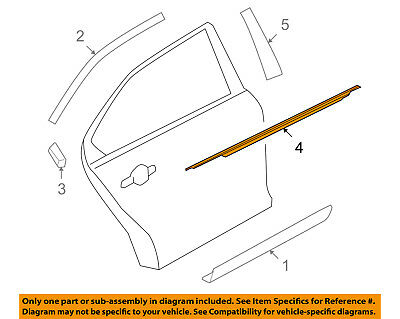 FORD OEM 10-18 Taurus REAR DOOR-Belt Weather Strip Right AG1Z5425596A