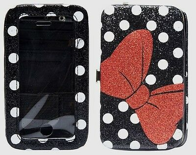 new arrivals f4e3c 35ed9 DISNEY MINNIE MOUSE Hinge Wallet Case - iPhone 4 4S 5 5S 5C - heavy duty  clutch