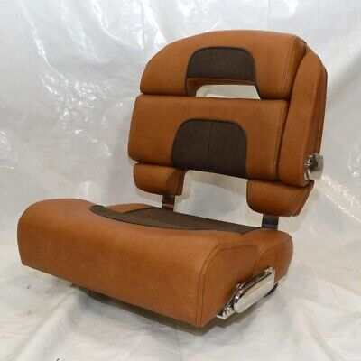 Admirable Scout Boat Bench Seat Dual Bolster Brown Faux Leather Dailytribune Chair Design For Home Dailytribuneorg