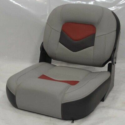 Folding Bench Boat Seat Two Tone Gray Red