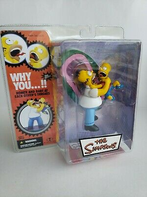 THE SIMPSONS MCFARLANE HOMER AND BART WHY YOU ACTION FIGURE NEW !!!
