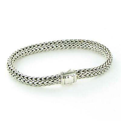 e0ef5cb2164a John Hardy Classic Chain 6.5mm Bracelet Hammered Clasp Sterling Silver New   550