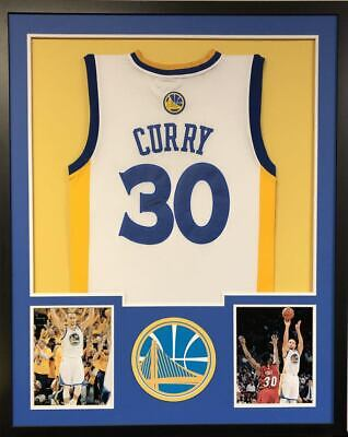 ba1ba80fa670 STEPH CURRY GOLDEN State Warriors Autographed Framed White Jersey ...