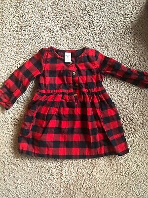 a0f14ccd8b09 BABY GIRL S CARTERS Buffalo Plaid Flannel Dress Set - Size 3 Months ...