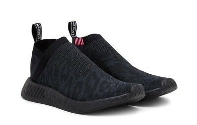 560fab122f67d Adidas Originals NMD CS 2 Primeknit Black Boost City Sock Pink Slip On  CQ2373
