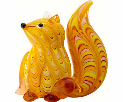 Collectible Blown Glass Creatures And Animals - Squirrel  - Ma087
