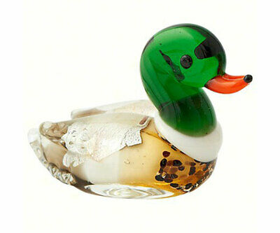 Collectible Blown Glass Creatures And Animals - Duck - Ma060