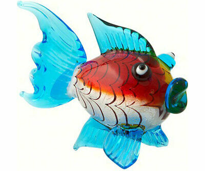 Collectible Blown Glass Creatures And Animals -Blowfish - Ma069