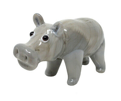 Collectible Blown Glass Creatures And Animals - Hippo - Ma099