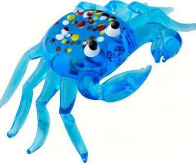 Collectible Blown Glass Creatures And Animals - Blue Crab - Ma084