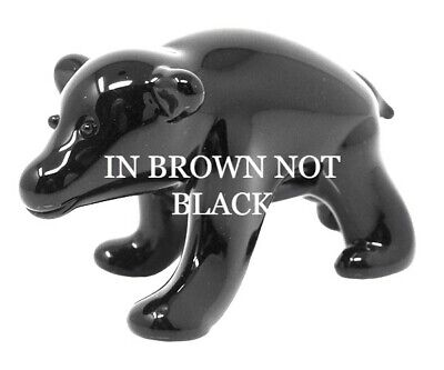 Collectible Blown Glass Creatures And Animals - Brown Bear - Ma100