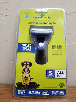 FURminator Comfort Edge Deshedding Tool All Hair Types Small For Dogs New