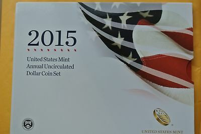 2015 US MINT ANNUAL UNCIRCULATED DOLLAR COIN SET w/Burnished Eagle - Low Mintag2
