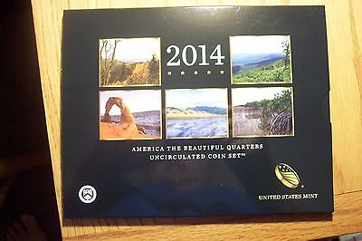 2014 P&D Uncirculated America The Beautiful National Park Quarters 10 Coin Set
