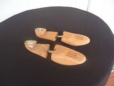 vintage mens shoe keepers trees stretchers wooden  medium canada flormont