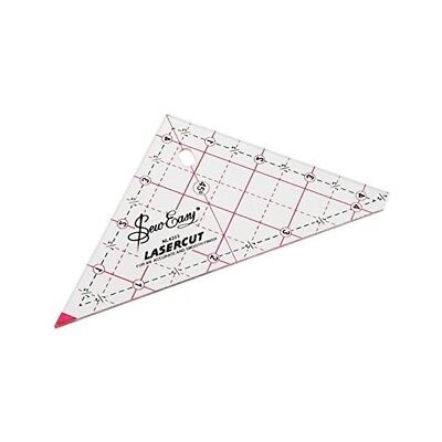 "90 DEGREE ANGLE TRIANGLE TEMPLATE - 4.5"" x 4.5"" RULER - SEW EASY - PATCHWORK"