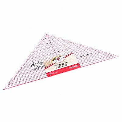 "SEW EASY 90 DEGREE TRIANGLE TEMPLATE  - 7.5"" x 15.5"" - PATCHWORK COMPANION RULER"