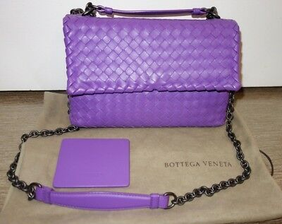 100% Authentic Bottega Veneta Small Olimpia Bag in purple. Pristine  Condition! 18ea1bbfabd0b