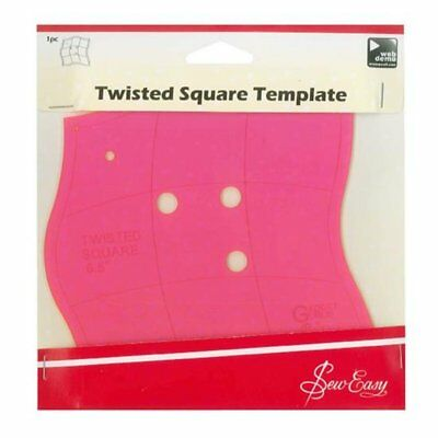 SEW EASY TWISTED SQUARE TEMPLATE - Size: 16.5cm / 6.5 inch - PATCHWORK QUILTING