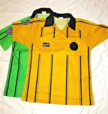 4f1a1934170 USSF SOCCER REFEREE Adult Small OFFICIAL SPORTS PRO JERSEYS Lot of 2 Green