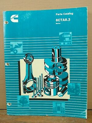 OEM CUMMINS DIESEL Engine 6CTA8 3 Marine Parts Catalog Manual Book 3884333