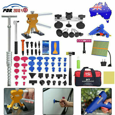 95xCar PDR Tools Kit Paintless Body Dent Repair Puller Lifter Line Board Removal