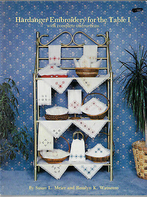 Hardanger Embroidery for the Table Meier & Watnemo placemat towel cloth napkin