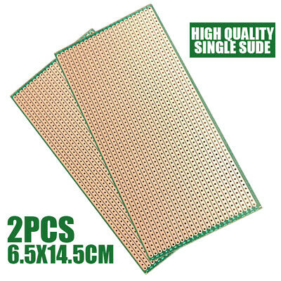 2Pcs Single-side Prototype PCB Circuit Board Veroboard Stripboard DIY 6.5x14.5cm