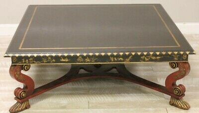 Monumental Charles Pollock Chinoiserie Coffee Table