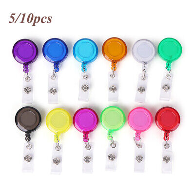 Clip Clip Stationery ID Name Card Mini Badge Holder Retractable Lanyards