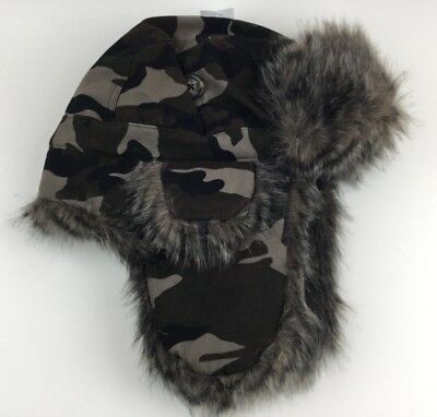 3d278f16806f5 New American Eagle Outfitters Trapper Aviator Faux Fur Camouflage Hat Ear  Covers
