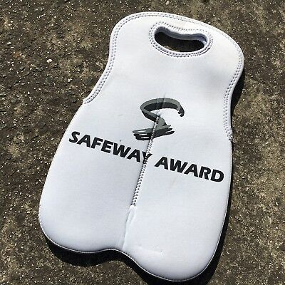 "SAFEWAY AWARD ""White"" Neoprene Wine Bottle Carry Bag Soft Drink Cooler Bag"