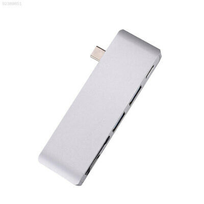 B55C For MacBook Pro 5In1 Adapter With USB3.0 Charging Card Reader Siliver