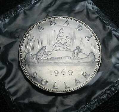 RCM - 1969 - Nickel Dollar - VOYAGEUR - Proof Like - Sealed in original cello