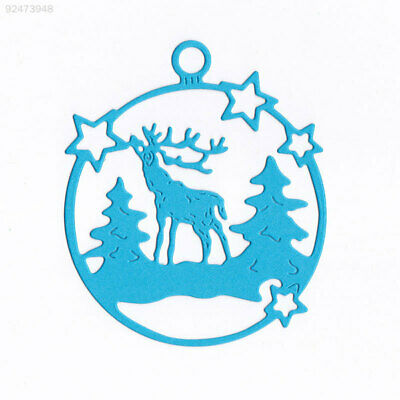 3EA0 Durable Cutting Dies Embossing Card DIY Carbon Steel Christmas Deer Home