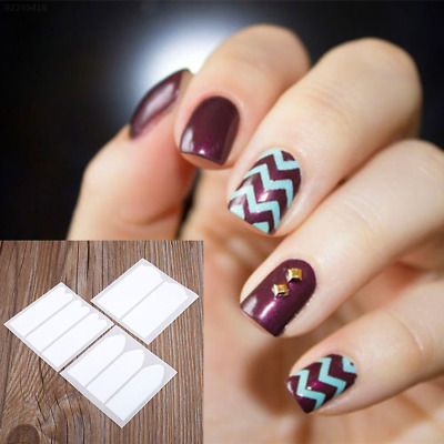 8958 Fashion 18 Sheets DIY French Nail Art Tips Tape Guide Manicure Form