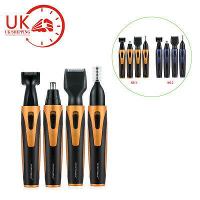 4 in1 USB Rechargeable Beard Eyebrow Nose Hair Trimmer Razor Electric Shaver UK
