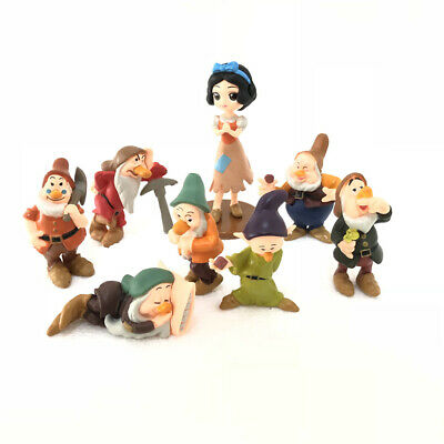 Snow White and the Seven Dwarfs Cartoon Princess Doll Cake Topper Figure