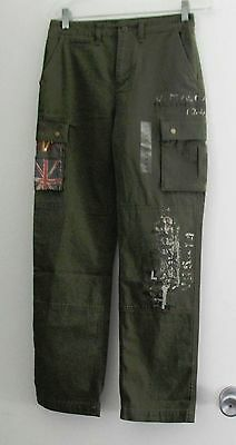 Ralph Lauren Boys Vintage Chino Cargo Pants Rugby Olive Sz 18 - NWT