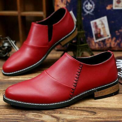 90706456626 hot Mens Pointy Toe Slip On British Casual Formal Business Loafers dress  Shoes