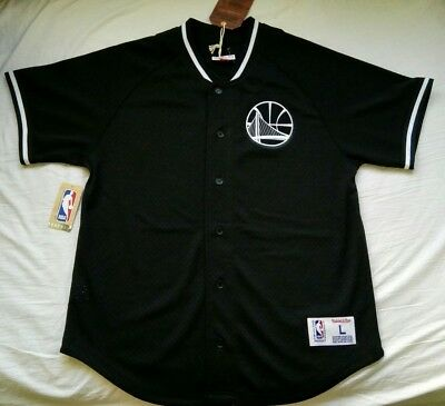 b977b0f4 NEW Mitchell & Ness Men's Mesh Button Front Golden State Warriors Jersey  LARGE