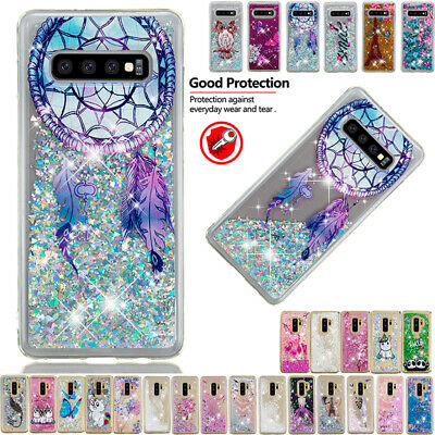 Patterned Shockproof Liquid Quicksand Case Cover For Galaxy S10Plus S10e S8 S9+