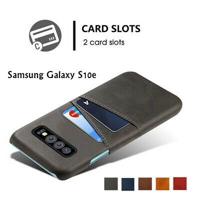 For Samsung Galaxy S10e S10 Plus Slim Wallet Credit Card Slot Leather Case Cover