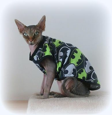 BATMAN 2 sizes Summer vest, Sphynx cat clothing, cat jumper, Sphynx clothes