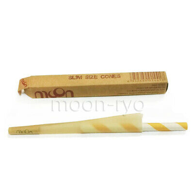 1 pcs MOON Pre-Rolled Slim Size 108mm Cone Rolling Papers Unbleached Cones