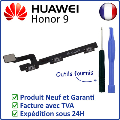 Nappe Interne Des Boutons Touches Power On Off Et Volume + - Du Huawei Honor 9